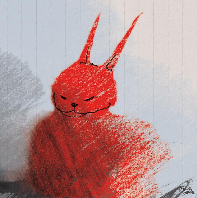 ilustración infantil conejos bola