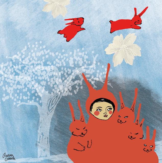 ilustración infantil los conejos bola 4