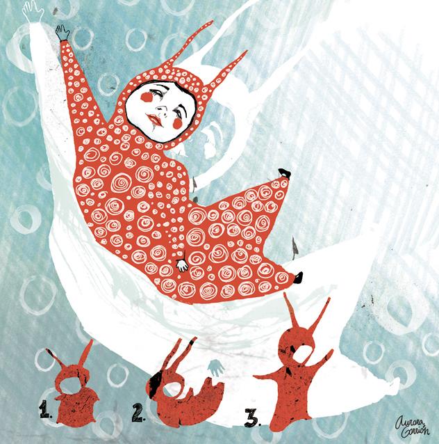 ilustración infantil conejo bola