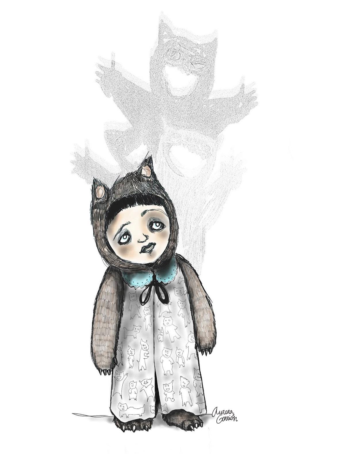 Ilustración infantil monstruos