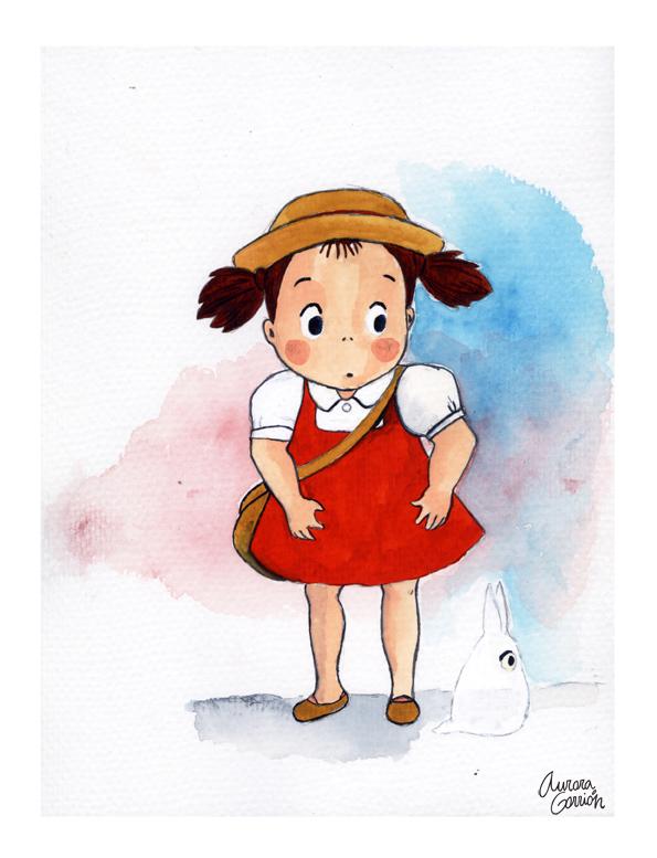 ilustración infantil Totoro